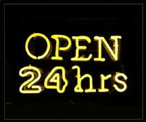 Open 24 hrs Neon Sign 1